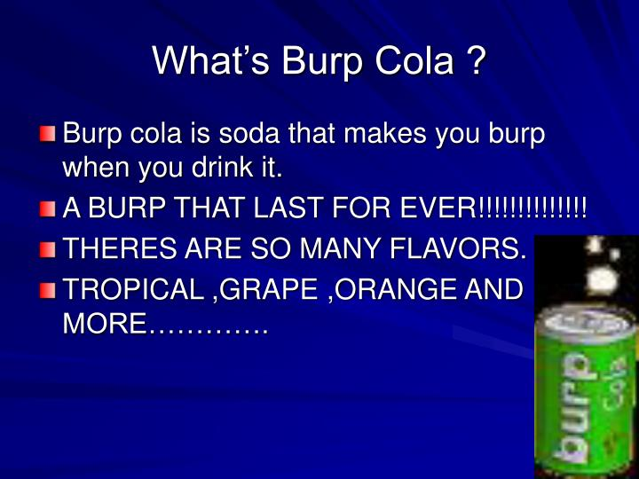 What s burp cola
