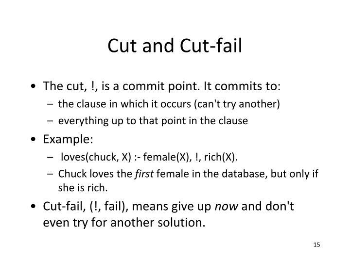 Cut and Cut-fail