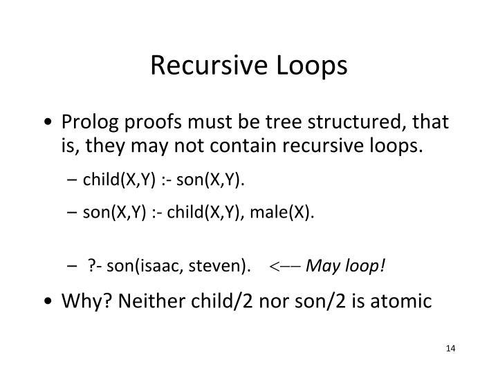 Recursive Loops