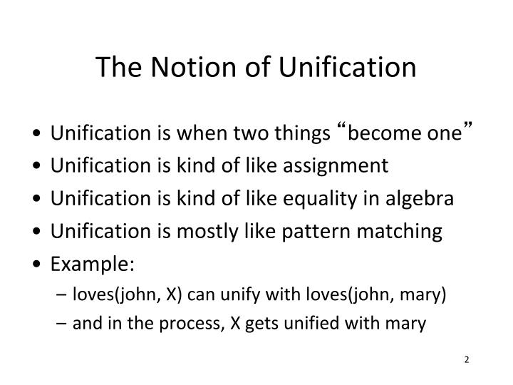 The Notion of Unification