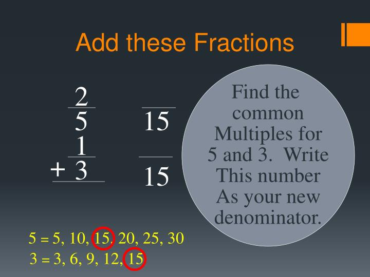 Add these Fractions