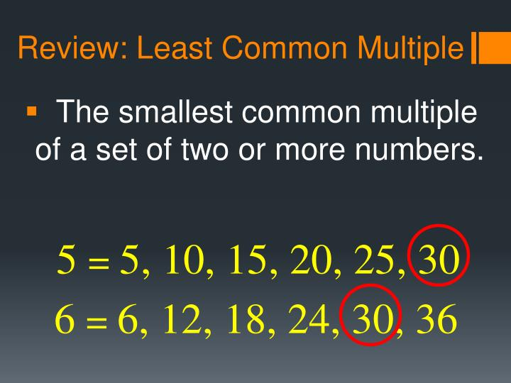 Review: Least Common Multiple