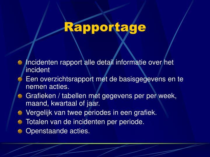 Rapportage