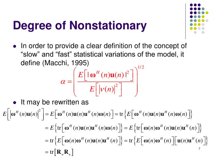 Degree of Nonstationary
