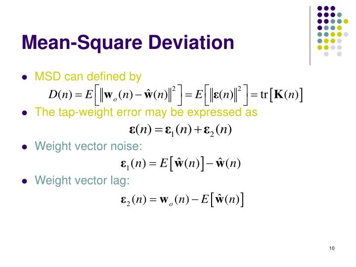 Mean-Square Deviation
