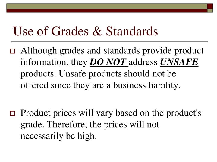 Use of grades standards1