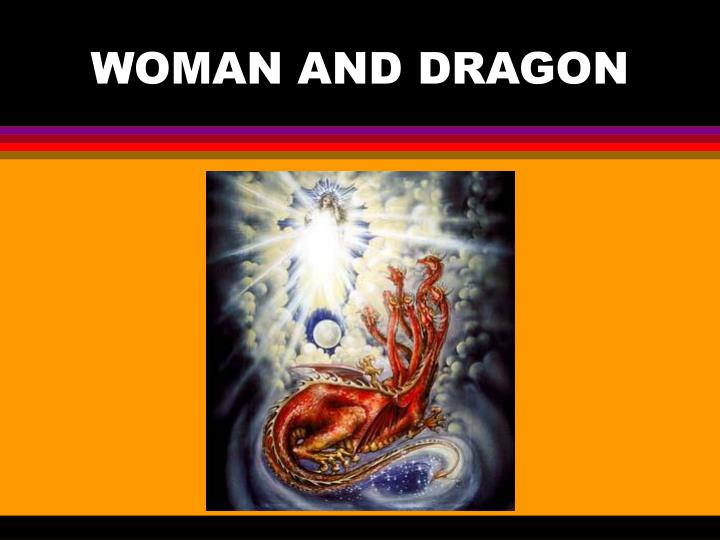 Woman and dragon