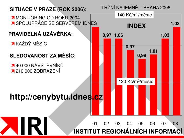 TRŽNÍ NÁJEMNÉ – PRAHA 2006