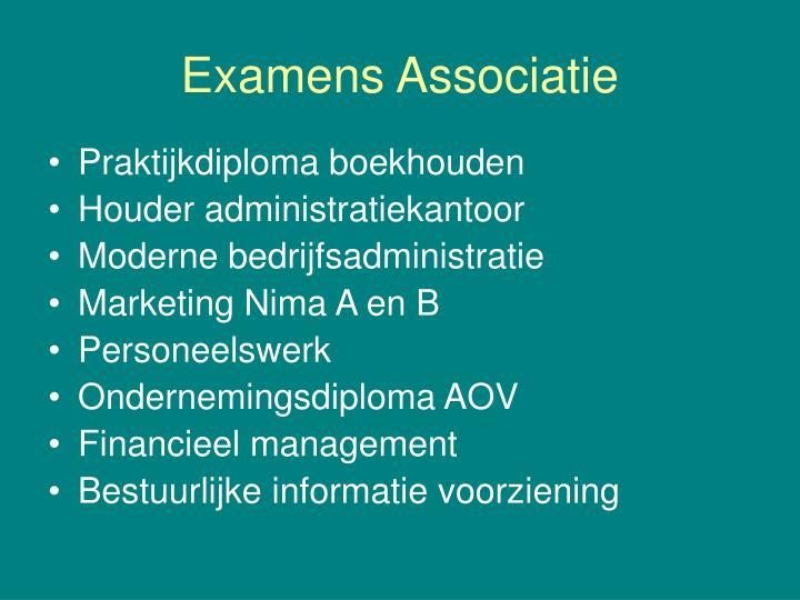 Examens Associatie
