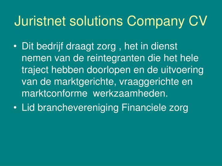Juristnet solutions Company CV