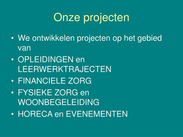 Onze projecten