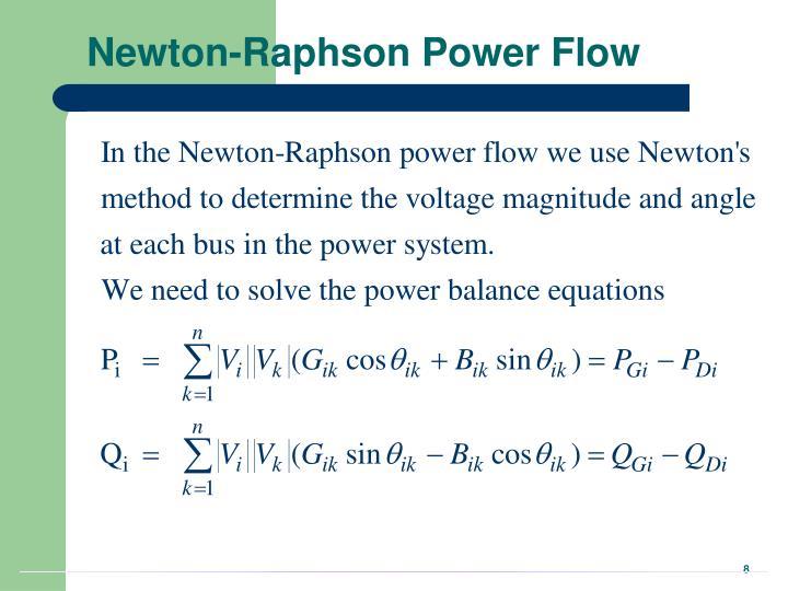 Newton-Raphson Power Flow