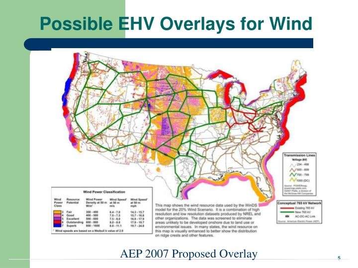 Possible EHV Overlays for Wind
