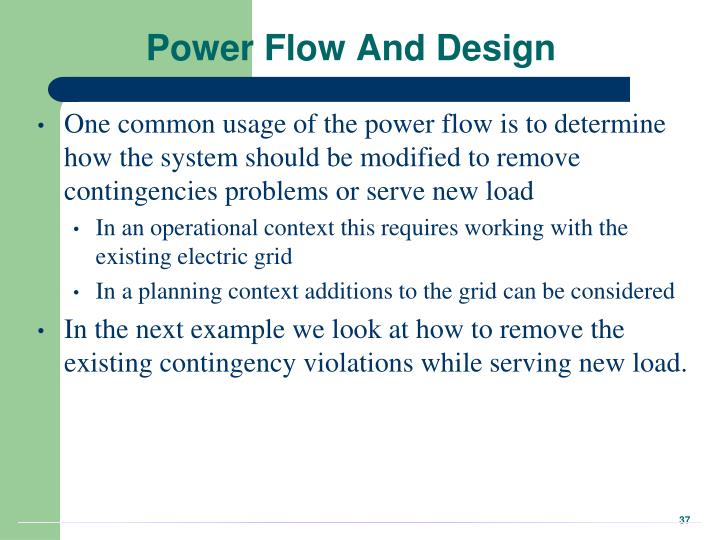 Power Flow And Design