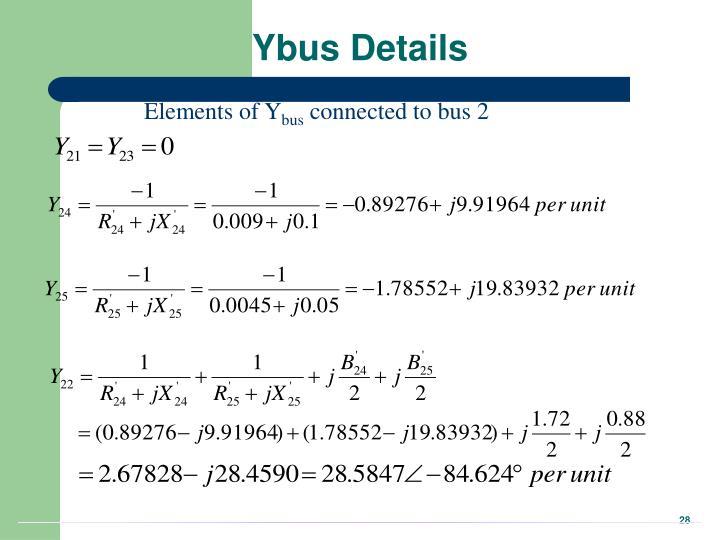 Ybus Details