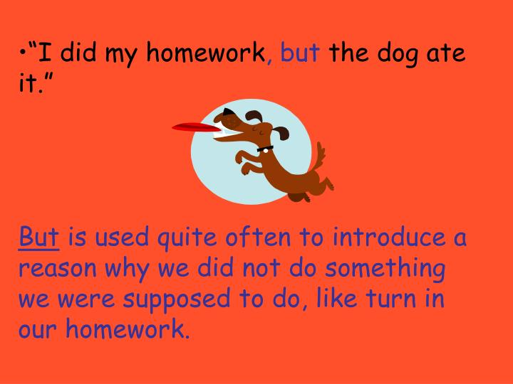 """I did my homework"
