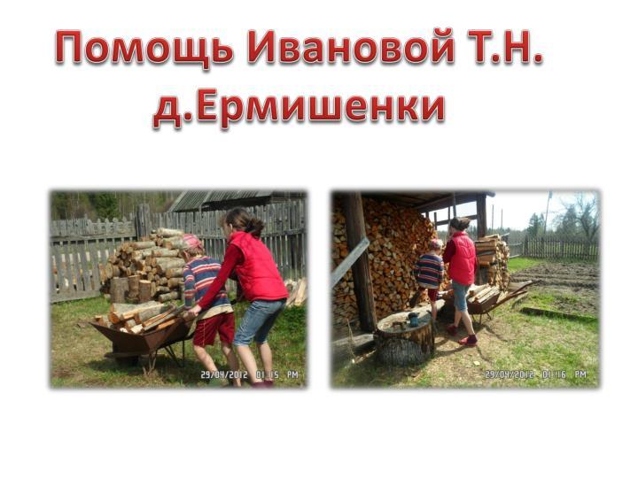 Помощь Ивановой Т.Н.
