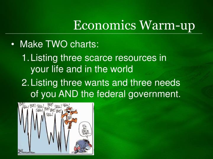 Economics warm up