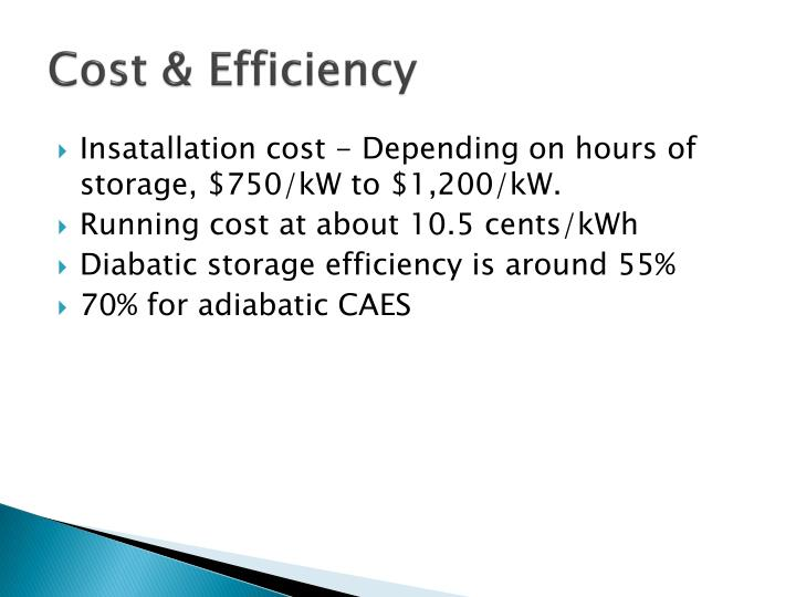 Cost & Efficiency