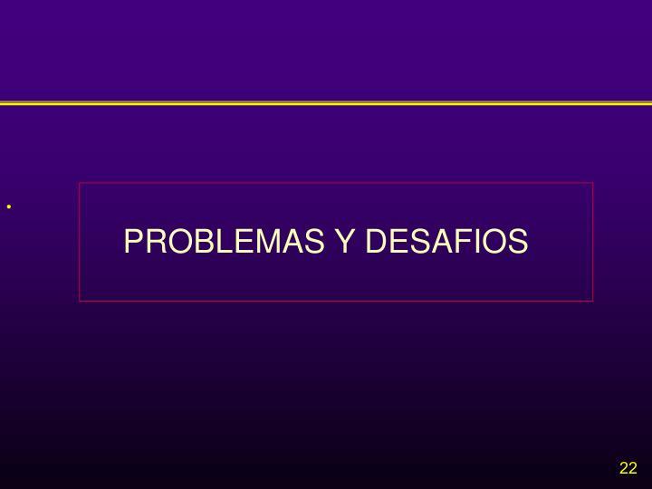 PROBLEMAS Y DESAFIOS
