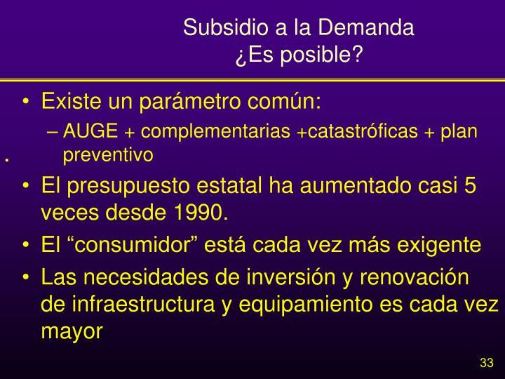 Subsidio a la Demanda
