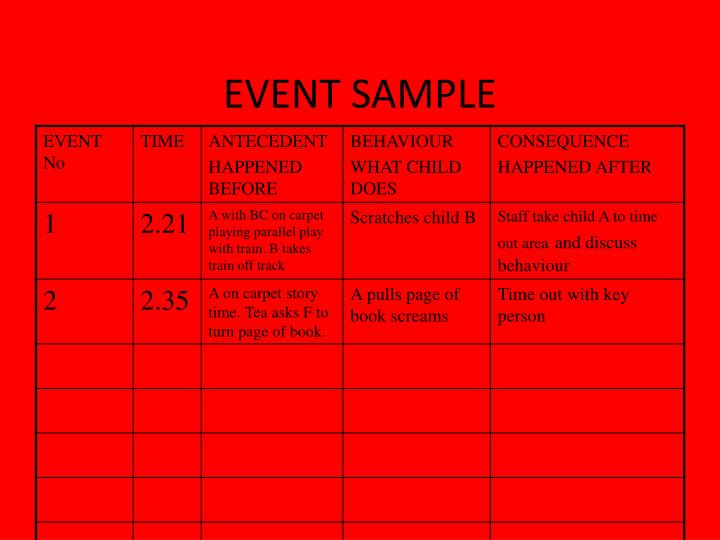 EVENT SAMPLE