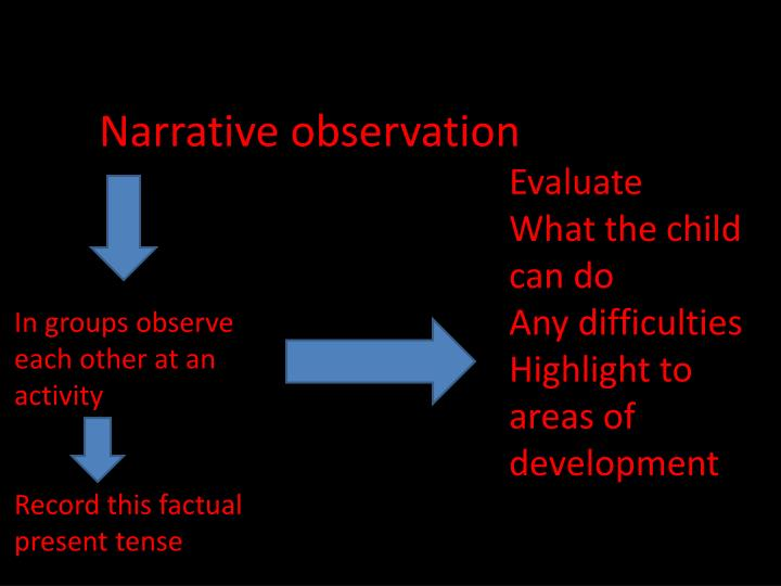 Narrative observation