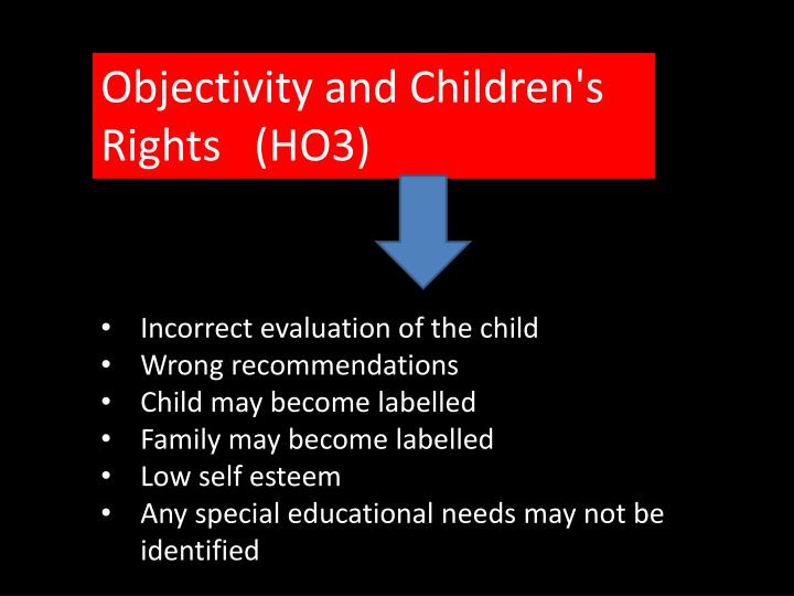 Objectivity and Children's Rights   (HO3)