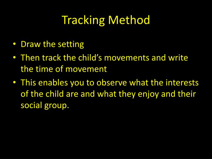 Tracking Method