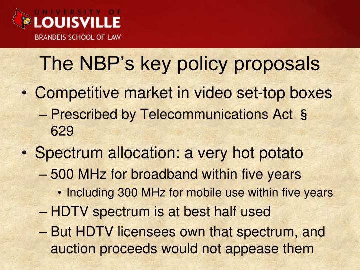 The NBP's key policy proposals