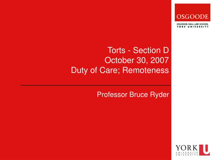 analysis of duty of care 2007