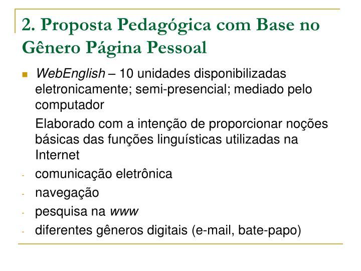 2. Proposta Pedagógica com Base no Gênero Página Pessoal