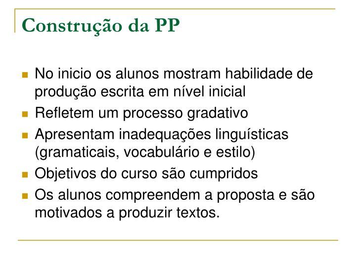 Construção da PP