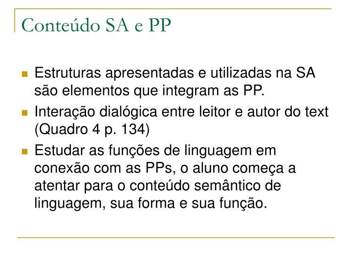 Conteúdo SA e PP