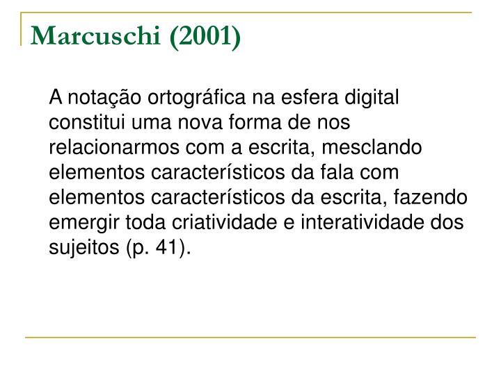 Marcuschi (2001)