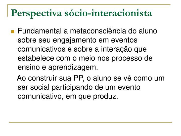 Perspectiva sócio-interacionista