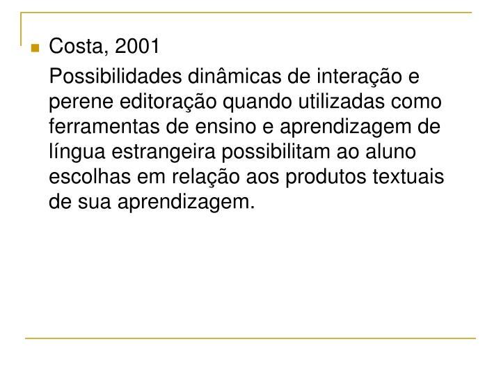 Costa, 2001