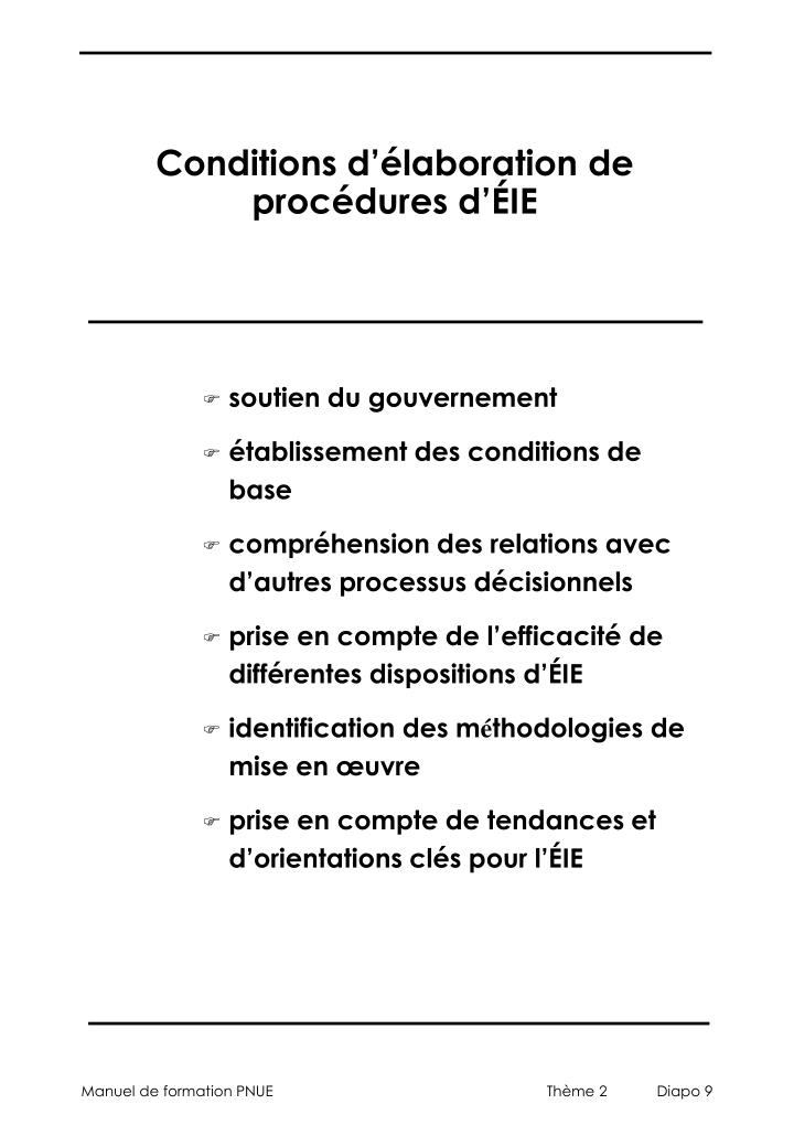 Conditions d'élaboration de procédures d'