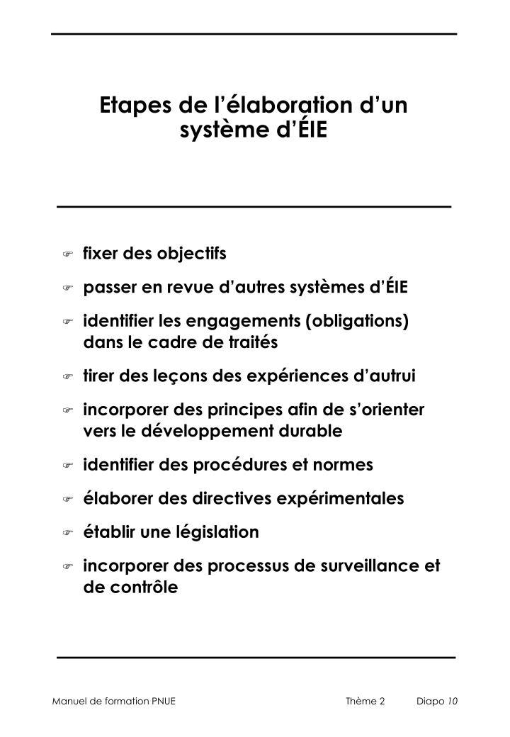 Etapes de l'élaboration d'un système d'