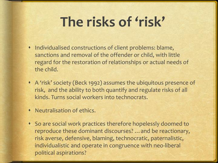 The risks of risk