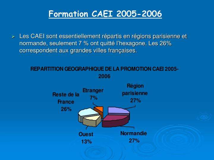 Formation CAEI 2005-2006