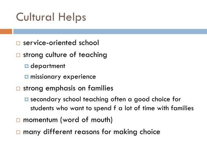 Cultural Helps
