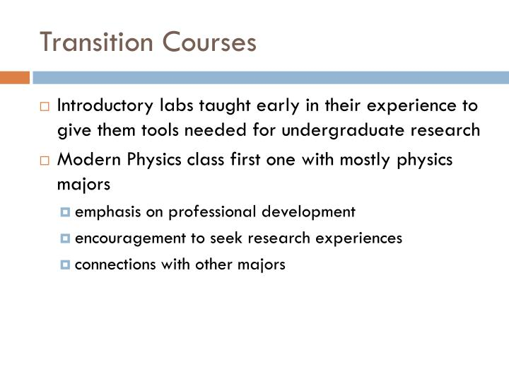 Transition Courses