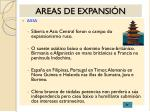 areas de expansi n