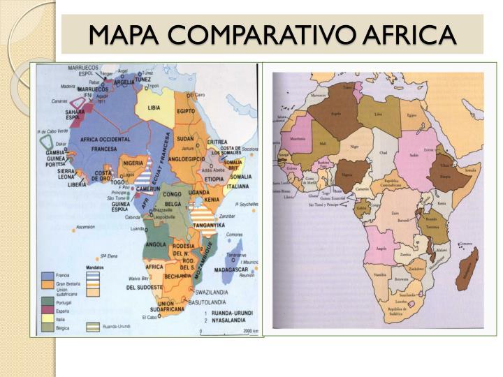 MAPA COMPARATIVO AFRICA