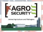 animal agriculture and pathogens