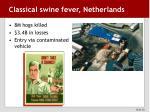 classical swine fever netherlands