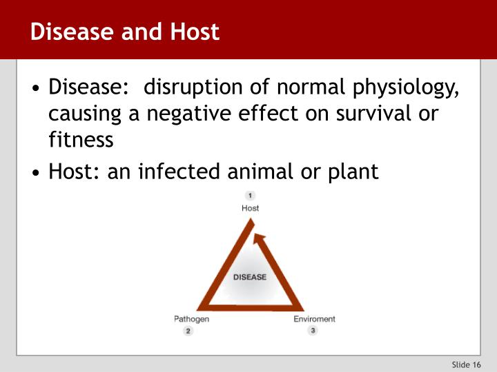 Disease and Host