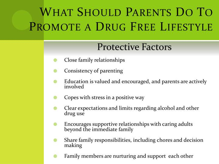 What Should Parents Do To Promote a Drug Free Lifestyle