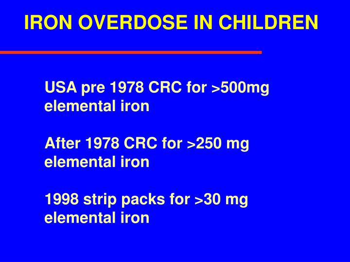 IRON OVERDOSE IN CHILDREN